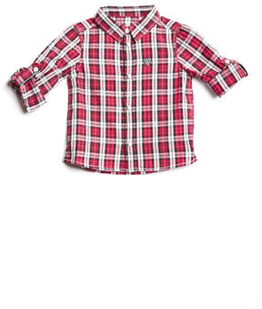GUESS Plaid Button-Down Shirt (0-24M)