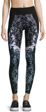 Betsey Johnson Women's Printed Mesh Leggings