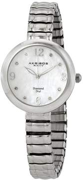 Akribos XXIV Mother of Pearl Diamond Ladies Watch