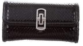 Bvlgari Snakeskin Compact Wallet
