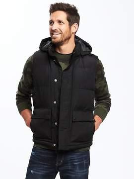 Old Navy Quilted Zip-Away Hooded Vest for Men