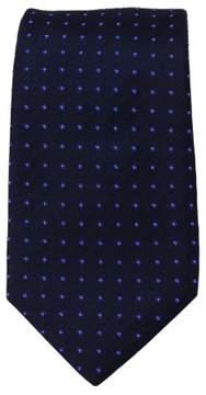 HUGO BOSS Men's 7.5cm Italian Silk Dot Tie - NAVY - ONE SIZE