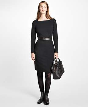 Brooks Brothers Ponte Knit Sheath Dress