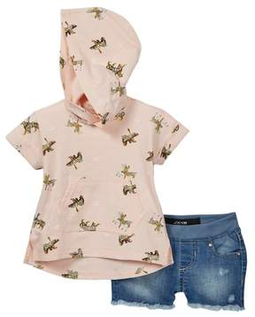 Joe's Jeans 2-Piece Short Sleeve Hoodie Set (Baby Girls)