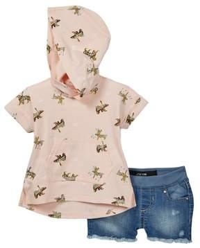 Joe's Jeans 2-Piece Short Sleeve Hoodie Set (Baby Girls)