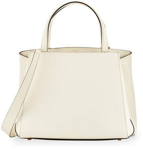 Valextra Triennale Small Leather Tote Bag, White