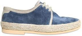 Dolce & Gabbana Suede & Jute Derby Lace-Up Shoes