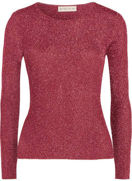 Etro Metallic Ribbed-knit Top - Pink