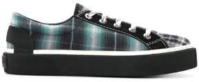 Lanvin tartan panel sneakers