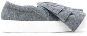 Joshua Sanders ruched slip-on sneakers