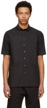 Isabel Benenato Black Club Collar Shirt