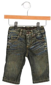 Roberto Cavalli Boys' Distressed Straight-Leg Jeans w/ Tags