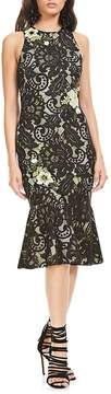 Theia Women's Floral-Applique Sleeveless Dress