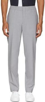 MSGM Grey Wool Elastic Waist Trousers