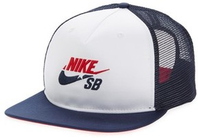 Nike Men's Sb Trucker Cap - White