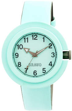 Crayo Womens Equinox Powder Blue Strap Watch CRACR2804