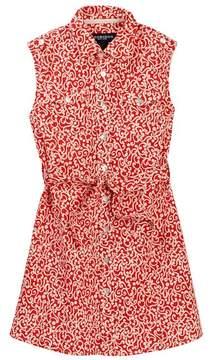 Toobydoo Scarlet Printed Sleeveless Belted Shirtdress (Toddler, Little Girls, & Big Girls)