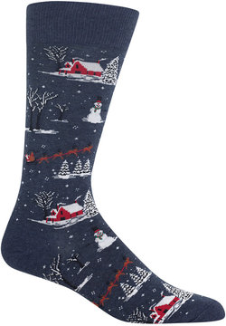 Hot Sox Men's Winter-Scene Socks