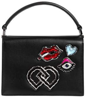 DSQUARED2 Medium Leather Bag W/ Appliqués