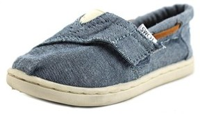 Toms Bimini Youth Round Toe Canvas Blue Sneakers.