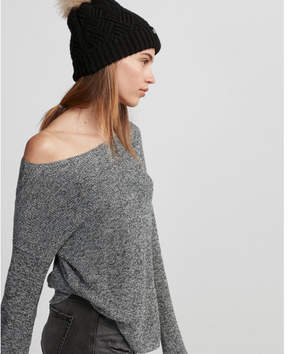 Express marled shirttail hem sweater