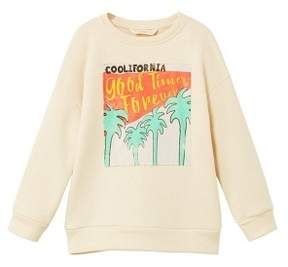 MANGO Printed picture sweatshirt