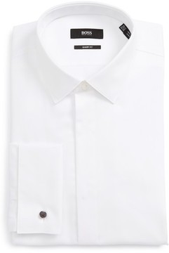 BOSS Men's Myron Sharp Fit Tuxedo Shirt
