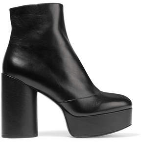 Marc Jacobs Amber Leather Platform Ankle Boots - Black