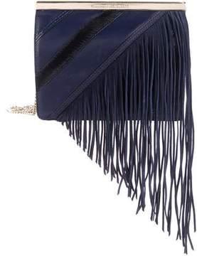 Diane von Furstenberg Fringed Leather Soiree Tuxedo Bag