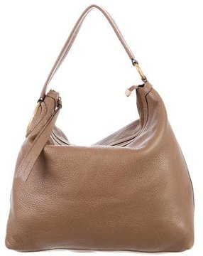 Gucci Twill Leather Hobo - BROWN - STYLE
