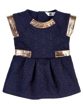 Petit Lem Baby Girls Diamonds are Forever Pleated Dress