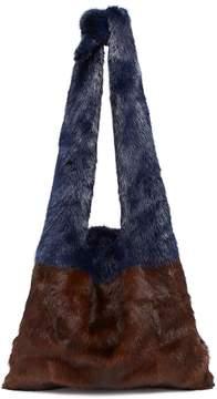 Simonetta Ravizza 'Furrissima' colourblock mink fur tote