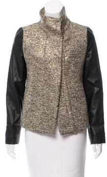 Generation Love Leather-Paneled Metallic Jacket
