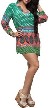 Tolani Green Tunic Dress
