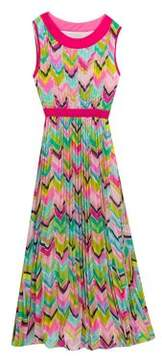 Rare Editions Girl's Multicolored Chevron Dress