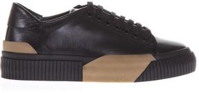 Moncler Leather Sneakers Contrasting Color Insert