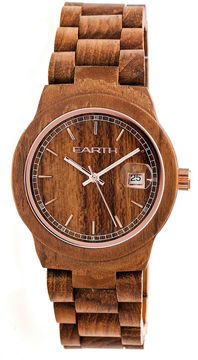 Earth Wood Biscayne Unisex Brown Bracelet Watch-Ethew4205
