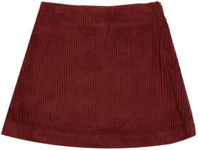 Caramel Midford Ribbed Velvet Skirt