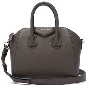 Givenchy Antigona Mini Grained Leather Cross Body Bag - Womens - Dark Brown