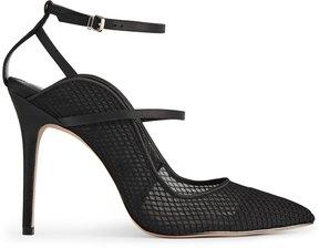 Reiss Marpessa Mesh Mesh Ankle Strap Court Shoes