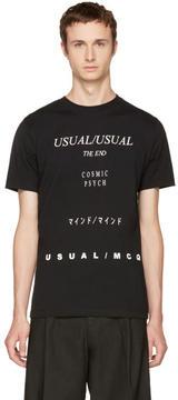 McQ Black Usual-Usual T-Shirt