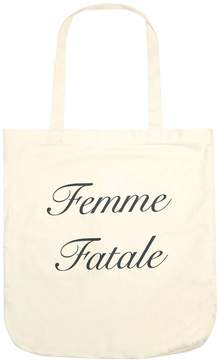 White Slogan Canvas Shopper Bag