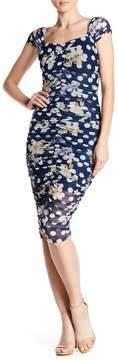 Alexia Admor Cap Sleeve Sweetheart Neck Dress