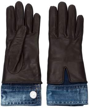 DSQUARED2 denim detali gloves