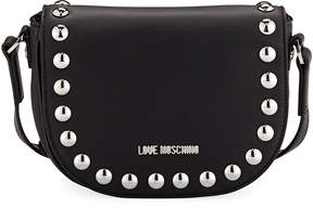Love Moschino Studded Faux-Leather Crossbody Bag, Black