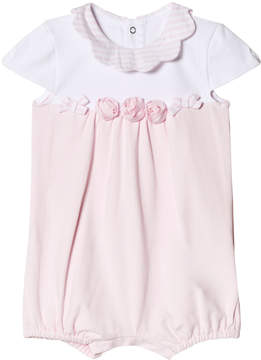 Mayoral Pink Romper with Flower Applique