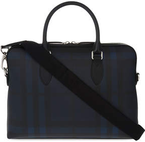 Burberry The Barrow coated cotton briefcase - NAVY BLACK - STYLE