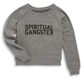 Spiritual Gangster Toddler's, Little Girl's & Girl's Varsity Sweatshirt