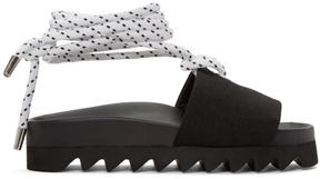 Joshua Sanders Black Sailor Slide Sandals