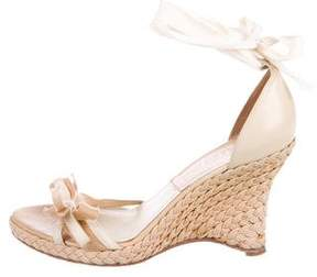 Christian Dior Braided Wedge Sandals